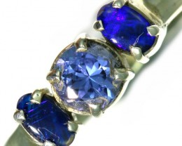 8 SIZE  TANZANITE AND OPAL RING  -FACTYORY DIRECT [SJ4563-6