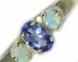 8 SIZE  TANZANITE AND OPAL RING  -FACTYORY DIRECT [SJ4567]