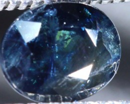 0.5CTS UNHEATED  AUSTRALIAN BLUE SAPPHIRE FACETED CERTIFIED PG-2224