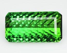 8.20 Cts Natural Neon Green Tourmaline Millennium Cut Mozambique
