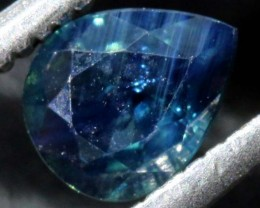 0.63 CTS UNHEATED AUSTRALIAN BLUE SAPPHIRE FACETED CERTIFIED PG-2239