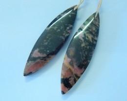 44.5ct Natural Rhodonite Earring Pair(17072104)