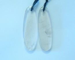 25ct Natural Smokey Quartz Earring Pair (17072106)