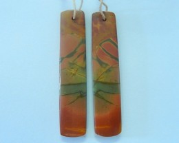 42.5ct Natural Multi-Color Picasso jasper Earring Pair(17072108)