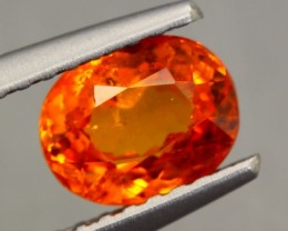 1.11ct NATURAL SPESSARTITE GARNET ORANGE RED OVAL CUT GEMSTONE