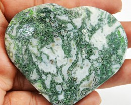 Heart shaped 280 cts Tree Agate Cab