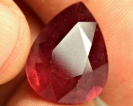 CERTIFIED - 19.65 Carat Fiery Red Ruby Pear - Superb