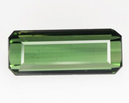 3.14 Cts Natural Neon Green Tourmaline Octagon Cut Mozambique Gem