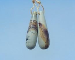 30ct Natural Chohua Jasper Tube Earrings(17072205)