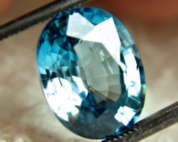 CERTIFIED - 8.13 Carat VVS Blue Southeast Asian Zircon
