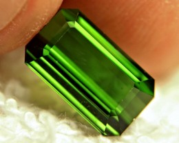 3.63 Carat VVS/VS Green Nigerian Tourmaline - Gorgeous