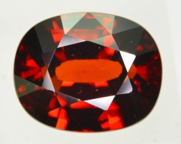 Gil Certified 8.96 ct Imperial Red Zircon Cambodia  SKU.2