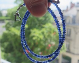 TOP NATURAL SAPPHIRES NECKLACE 46cm