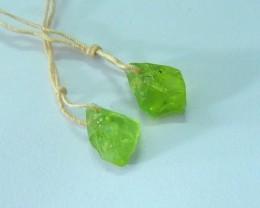 9ct Natural Green Peridot Nugget Earrings For Women(17072515)