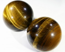 405Cts mm Parcel  Tiger eye Spheres PPP1394