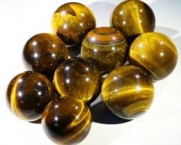 80Cts mm Parcel  Tiger eye Spheres PPP1395
