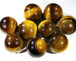 80Cts mm Parcel  Tiger eye Spheres PPP1396