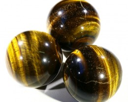 270Cts mm Parcel  Tiger eye Spheres PPP1398