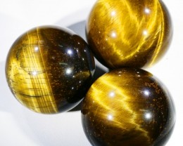 310Cts mm Parcel  Tiger eye Spheres PPP1400