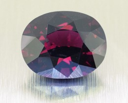 BIG RARE Srilankan Untreated Deep RED Oval cut Spinel 6.43 Ct. (01207)