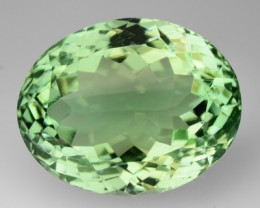 22.55 Cts Natural Green Amethyst/Prasiolite Oval CUt Brazil Gem