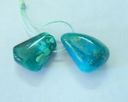 Sell 2pcs Natural Blue Opal Freeform Beads (17072703)