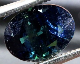 3.17CTS UNHEATED CERTIFIED AUSTRALIAN BLUE SAPPHIRE FACETED  PG-2254