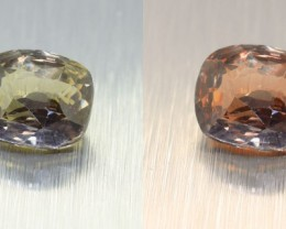 Unheated Colour Changing Green Sapphire 2.04 Ct. looks Amazing ! (00508)