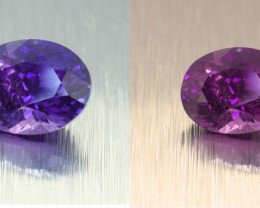 Unheated Ceylon Colour Changing Cornflower Blue Sapphire 1.34 Ct. (01183)
