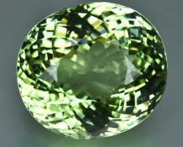 24.30 Cts Beautiful Faceted Natural Green Tourmaline