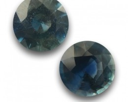 Natural Unheated green Sapphire pair |Loose Gemstone|Sri Lanka