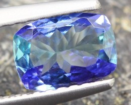 0.79ct Natural Violet Blue Tanzanite Octagon Cut Zoisite