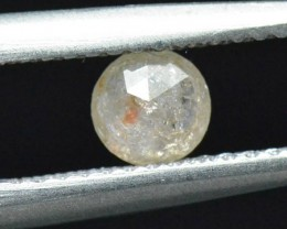 4.5mm white rose cut diamond 0.475ct 4.5mm by 2.6mm ethical