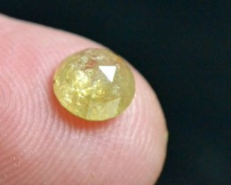0.95ct 7.9mm round rose cut diamond pale yellow 7.9 by 3.1mm