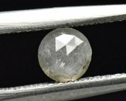 4.3mm 0.56ct White rose cut diamond ethical