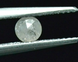4.35mm 0.40ct White rose cut diamond ethical 4.35 by 2.5mm