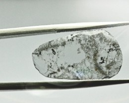 1.98ct 20.8mm salt pepper diamond slice