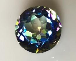 3.56ct Ink Blue flash Mystic Topaz gem Flawless Quality NR