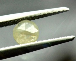 5mm light yellow ivory rose cut diamond 0.505ct 5 by 2.2mm