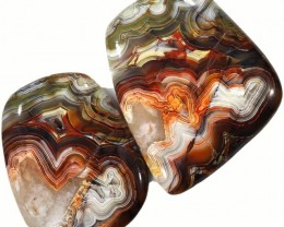 94.35 CTS TOP GRADE CRAZY AGATE POLISHED  STONE[MGW5213]