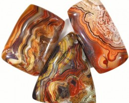 57.40 CTS TOP GRADE CRAZY AGATE POLISHED  STONE[MGW5225]