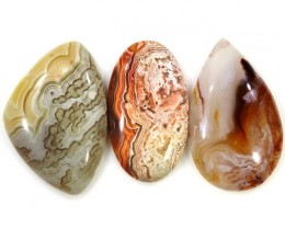 82.65 CTS TOP GRADE CRAZY AGATE POLISHED  STONE[MGW5252]