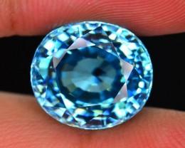 Gil Certified 9.88 ct Blue Zircon Rare Size frm Cambodia SKU.2