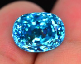 Gil Cerfied 9.68 ct Blue Zircon Cambodia SKU.2