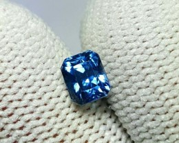 UNHEATED CERTIFIED 1.02 CTS NATURAL BEAUTIFUL BLUE SAPPHIRE CEYLON SRI LANK