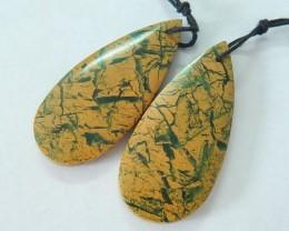 42.5ct Natural Camouflage Jasper Teardrop Earrings For Women,Fashion Jewelr