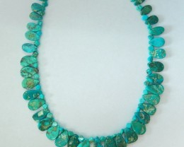 Sell one Strand 231.5ct Natural Nugget Turquoise Necklace Beads,39cm In The