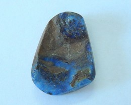 20.5ct Natural Boulder Opal With Blue Fire Nugget Cabochon(17080607)