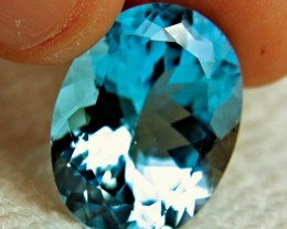 CERTIFIED - 42.85 Carat Beautiful Blue Brazilian Topaz