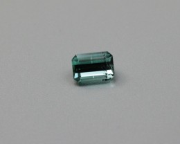 INDICOLITE TOURMALINE EMERALD CUT